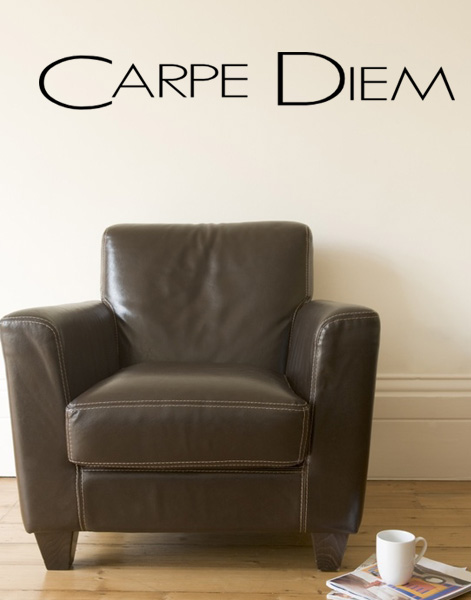 carpe diem m wandtattoo. Black Bedroom Furniture Sets. Home Design Ideas