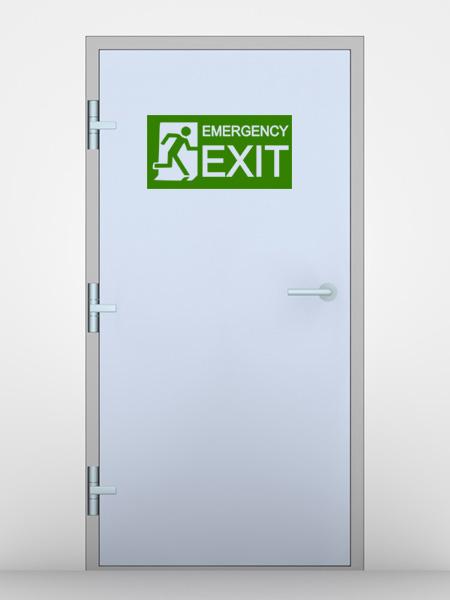 Emergencyexit wandtattoo - Wandspruche wohnzimmer ...
