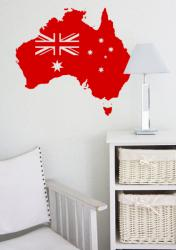Australien mit Flagge