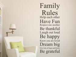 Family Rules - Familien Regeln L