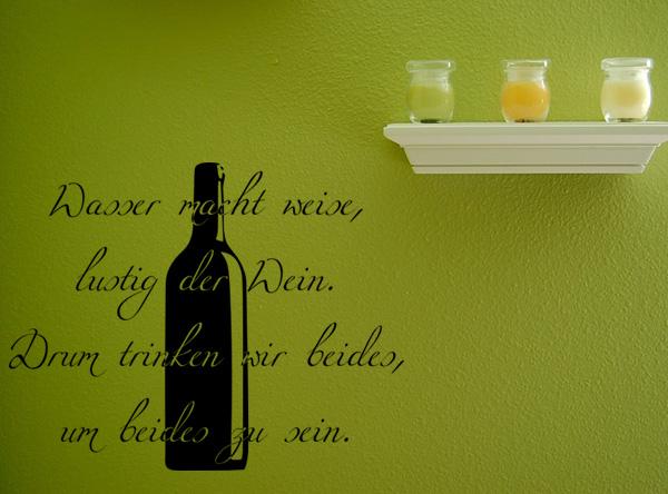 Wasser und Wein