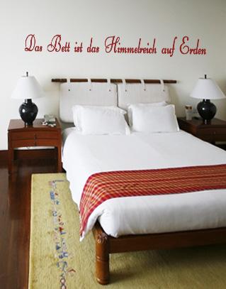 Das Bett ist das Himmelreich