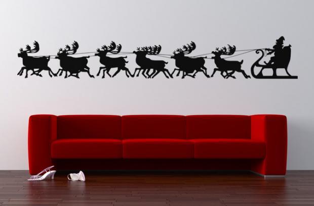 weihnachten wandtattoo. Black Bedroom Furniture Sets. Home Design Ideas