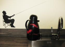 Angler in schwarz