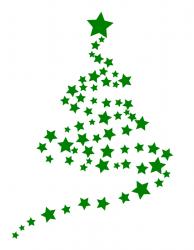 Sternenbaum Weihnachten L