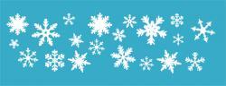 Schneeflocken-Set XL