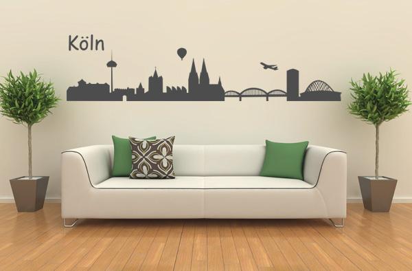 skyline k ln wandtattoo. Black Bedroom Furniture Sets. Home Design Ideas