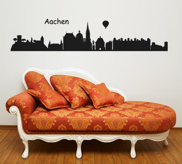 skyline aachen wandtattoo. Black Bedroom Furniture Sets. Home Design Ideas