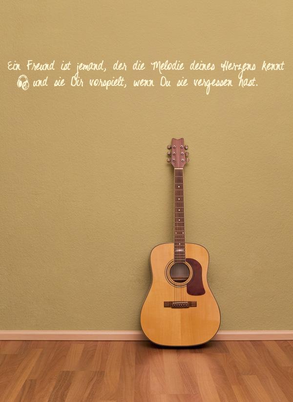 Wandspruchde Ein Freund Ist Jemand Der Die Melodie Deines