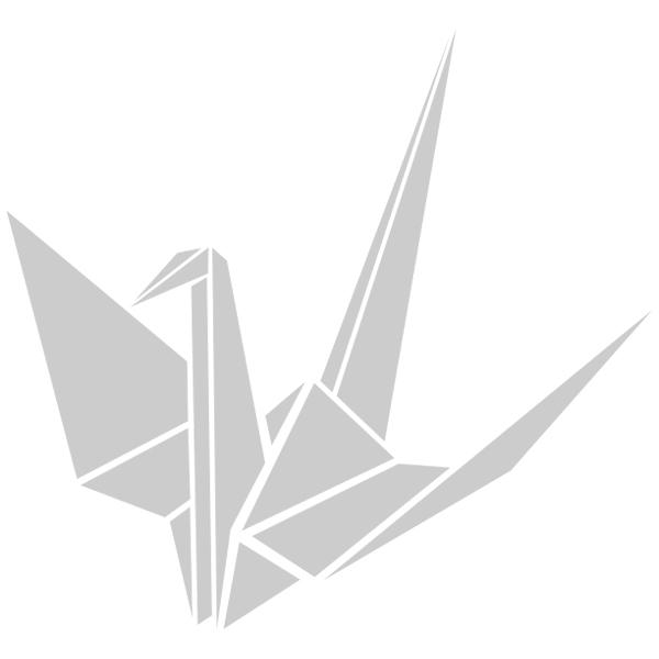 kranich origami wandtattoo. Black Bedroom Furniture Sets. Home Design Ideas
