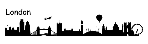Skyline london wandtattoo - Skyline london wandtattoo ...